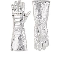 Calvin Klein 205W39nyc Long Leather Gloves Silver