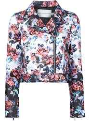 Mary Katrantzou Floral Print Biker Jacket Multicolour