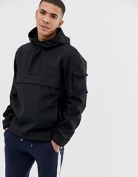 Selected Homme Technical Overhead Seam Sealed Jacket Black