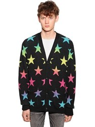 Amiri Star V Neck Cardigan Black Multi
