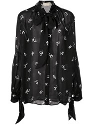 Nicole Miller Horoscope Blouse Black