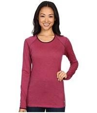 Smartwool Nts Micro 150 Pattern Crew Bright Pink Women's Long Sleeve Pullover