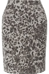 Current Elliott The Geneva Printed Stretch Cotton Skirt Gray