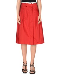 Betty Blue Skirts Knee Length Skirts Women Red