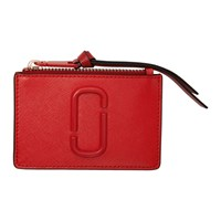 Marc Jacobs Red Snapshot Top Zip Multi Card Holder