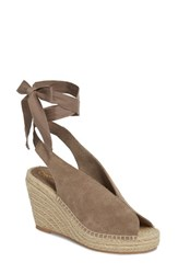 Seychelles Interrelated Espadrille Wedge Sandal Taupe Suede