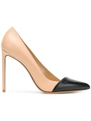 Francesco Russo Decollete Bi Colour Pumps Nude And Neutrals