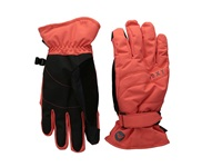Roxy Mouna Solid Glove Hot Coral Extreme Cold Weather Gloves Red
