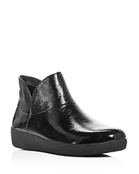Fitflop Supermod Patent Ankle Booties Black