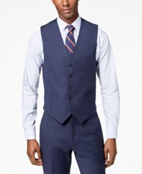 Tommy Hilfiger Men's Modern Fit Th Flex Stretch Light Navy Sharkskin Suit Vest