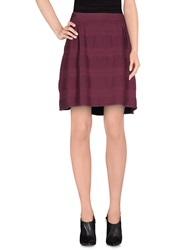 Cristinaeffe Collection Knee Length Skirts Maroon