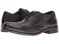 Bed Stu Corsico Corte Black Plantilla Betta Lace Up Wing Tip Shoes