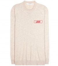 Givenchy Embroidered Cashmere Sweater Beige