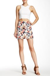 Lily White Scalloped Hem Skirt Multi