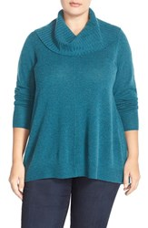 Plus Size Women's Sejour Cowl Neck Wool And Cashmere Sweater