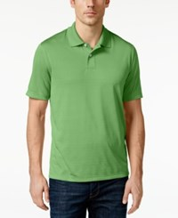 John Ashford Short Sleeve Solid Textured Performance Polo Light Pesto