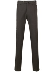 Pt01 Tailored Straight Leg Trousers Brown