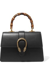 Gucci Dionysus Bamboo Medium Leather Tote Black