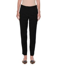 Dolce And Gabbana Micro Dot Slim Ankle Pants Black White Black White