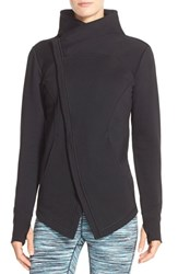 Women's Zella 'Snowdrift' Asymmetrical Zip Sweatshirt Black