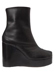 Maison Martin Margiela 100Mm Tabi Leather Wedge Ankle Boots