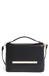 Ted Baker London Leather Top Handle Crossbody Clutch Black