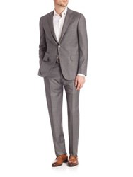 Isaia Grey Plaid Suit