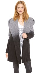 Bb Dakota Joyce Ombre Hooded Coat Grey