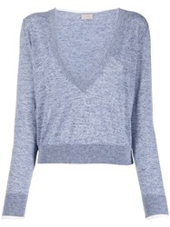 Mrz Cropped Plunging Neck Pullover 60