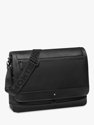 Montblanc Nightflight Leather Messenger Bag Black
