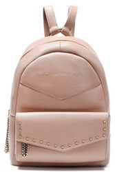 Jimmy Choo Woman Cassie Embellished Leather Backpack Blush