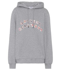 Opening Ceremony Patch Cotton Hoodie Grey