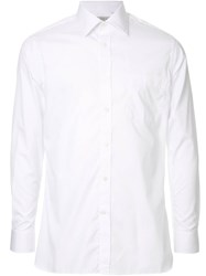 Gieves And Hawkes Long Sleeve Fitted Shirt White