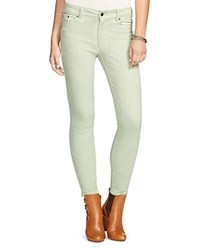 Lauren Ralph Lauren Faded Skinny Jeans In Aloe Wash