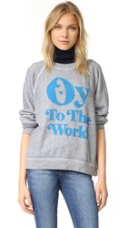 Wildfox Couture Oy To The World Sweatshirt Heather Burnout