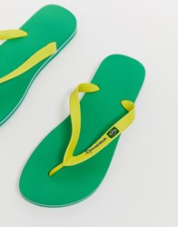 Ipanema Brazil 21 Flip Flop In Yellow Green