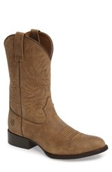 Ariat Men's Heritage Hickok Trail Cowboy Boot Brown Bomber