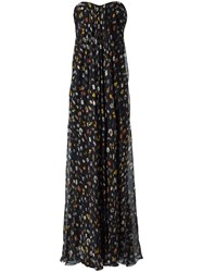 Alexander Mcqueen Obsession Draped Bustier Gown Black