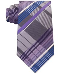 Geoffrey Beene Men's Under The Sun Plaid Tie Purple