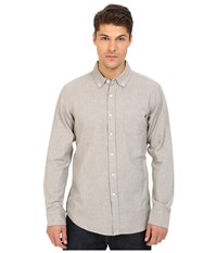 Obey Adams Woven Top Heather Grey Men's Long Sleeve Button Up Gray