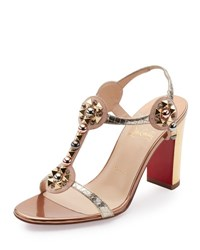 Christian Louboutin Kaleitop Spike T Strap 85Mm Red Sole Sandal Version Doudou