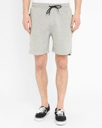 Eleven Paris Mottled Grey Russel Zipped Jersey Shorts
