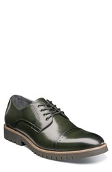 Stacy Adams Barcliff Cap Toe Derby Cargo Green Leather