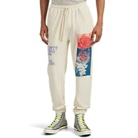 Ovadia And Sons Earth's Bounty Cotton Terry Sweatpants Cream