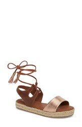 Klub Nico Erika Espadrille Sandal Rose Leather