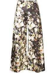 Adam By Adam Lippes Floral Print Cropped Trousers Multicolour