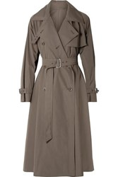 Max Mara Albano Cotton Poplin Trench Coat Army Green