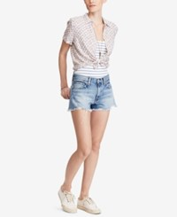 Denim And Supply Ralph Lauren Cropped Floral Print Shirt Mallory Floral