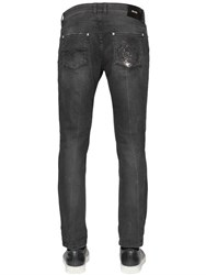 Versus 17Cm Lion Faded Stretch Denim Jeans