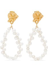 Alighieri Apollo's Story Gold Plated Pearl Earrings One Size